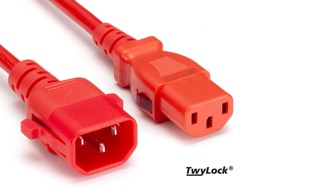 TwyLock® C13-C14 | Verriegelbares Stromkabel