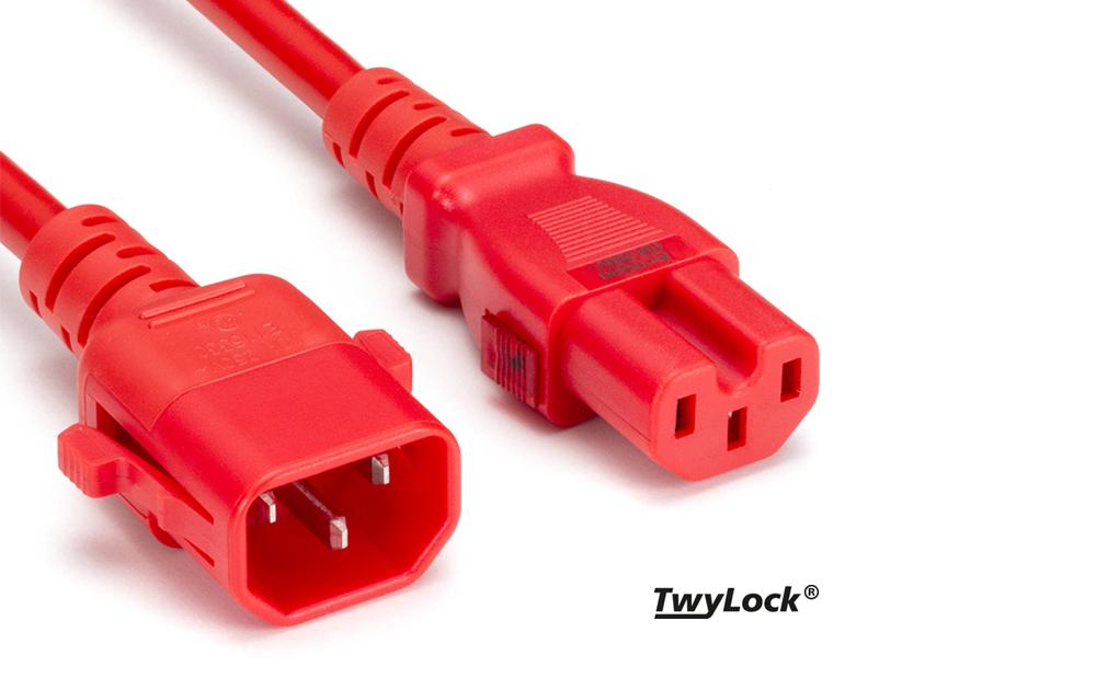 TwyLock® C15-C14 | Verriegelbares Powerkabel
