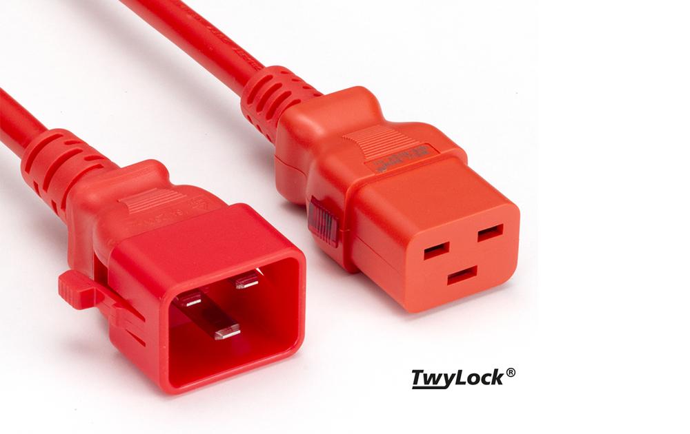 IEC Kabel PROCOM | TwyLock® C19-C20 | Verriegelbares Kaltgeräte Verlängerungskabel